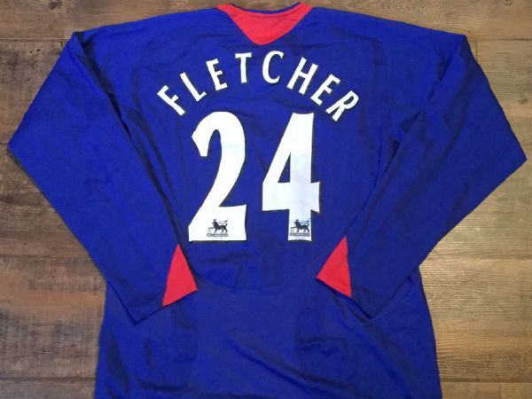 2005 2006 Manchester United L/s Fletcher Away Football Shirt Adults Medium